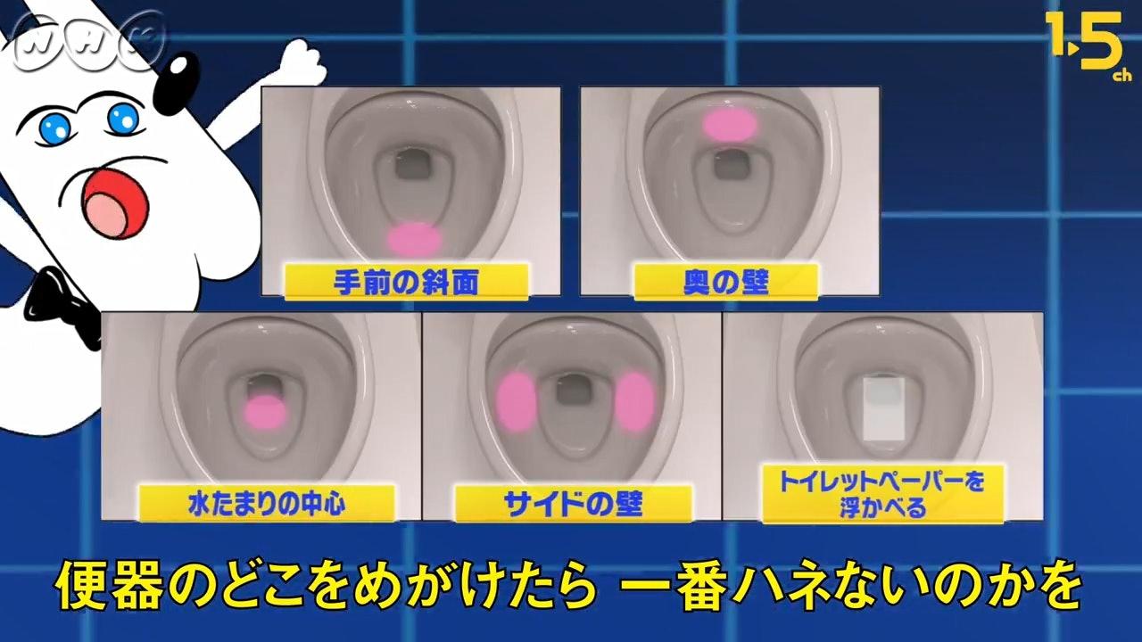 日本有節目實測小便時瞄準馬桶的不同情況