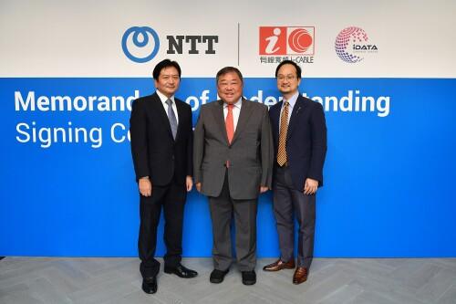 NTT Ltd. 北亞區及香港行政總裁平松太一及有線寬頻通訊有限公司主席丹斯里拿督邱達昌簽署合作瞭解備忘錄。